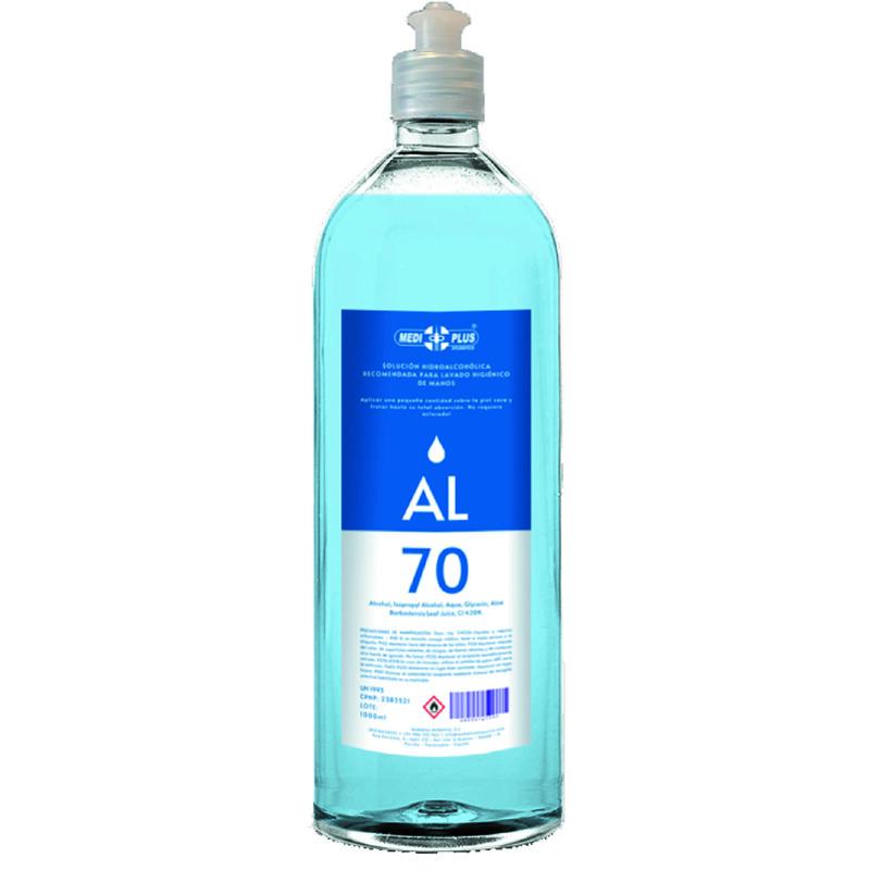 Gel hidroalcohólico - Bote de 1 litro - Piel sensible - Antalis